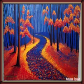 CharuKaru Painting- (Autumn Forest)