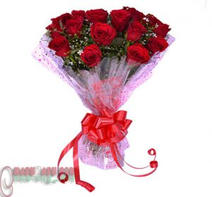 Red Rose little bouquet.3