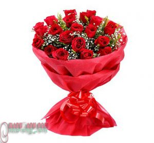Red Rose little bouquet.4