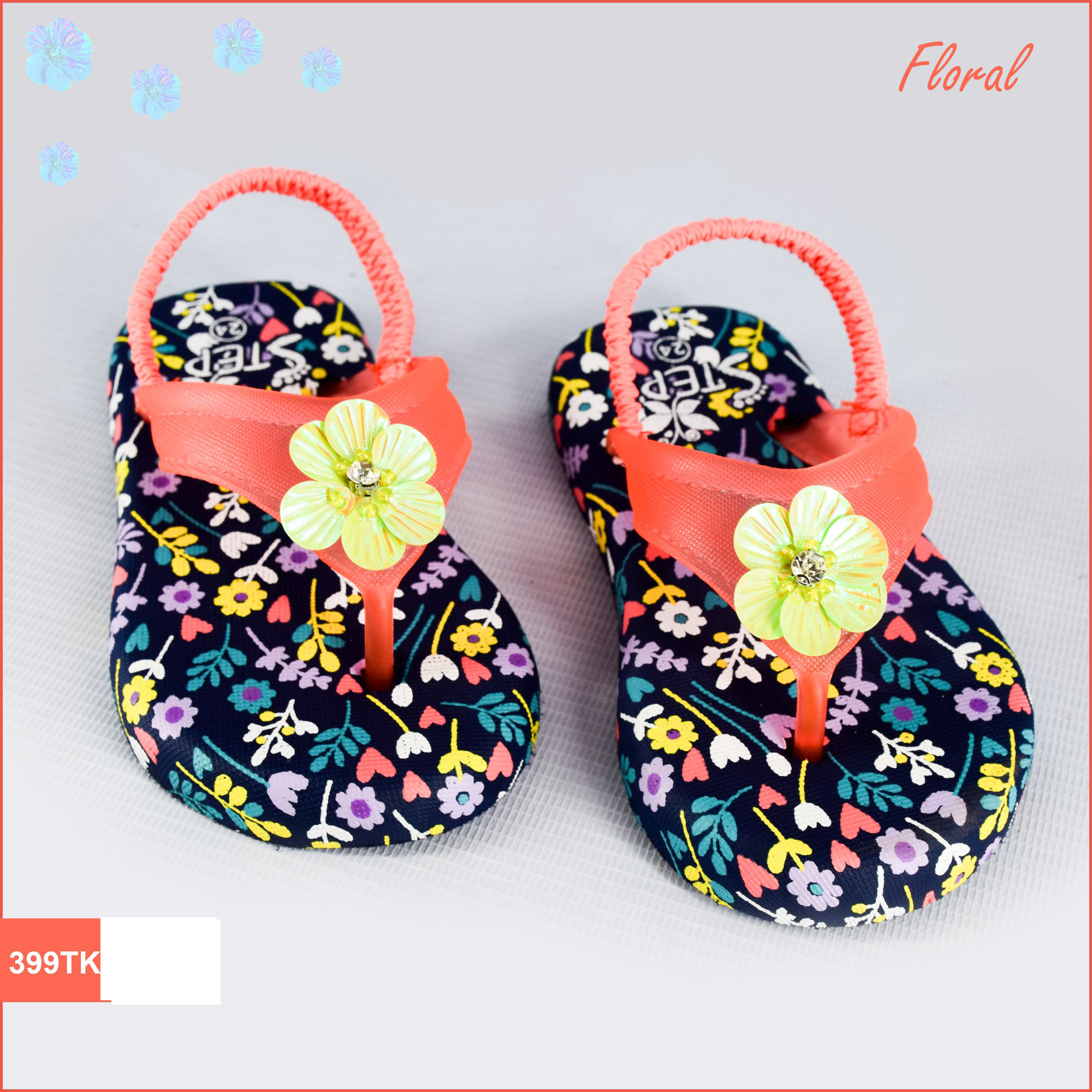 Exclusive Kid's Footwear (Floral)- Product- LC 001