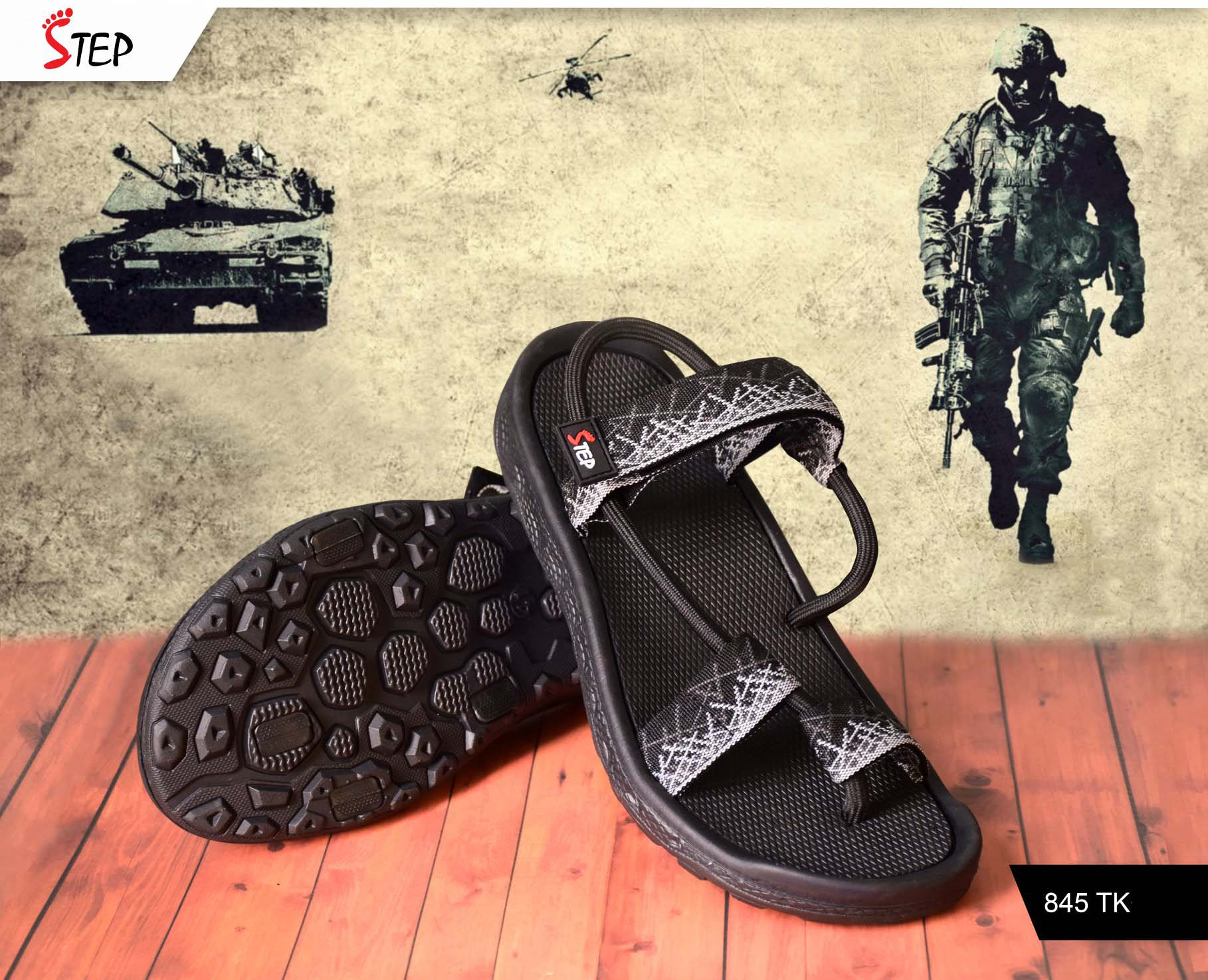 "Exclusive Men's Sandal (""Commando"")- Product- GC 211"