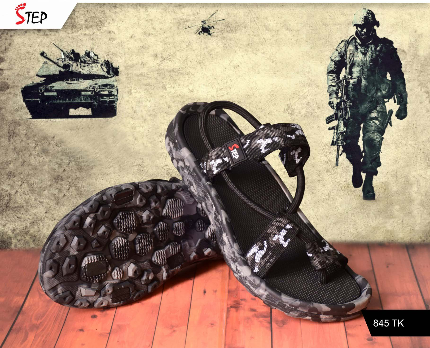 "Exclusive Men's Sandal (""Commando"")- Product- GC 213"