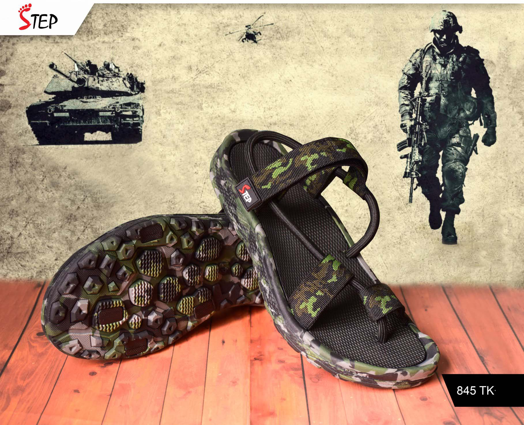 "Exclusive Men's Sandal (""Commando"")- Product- GC 214"