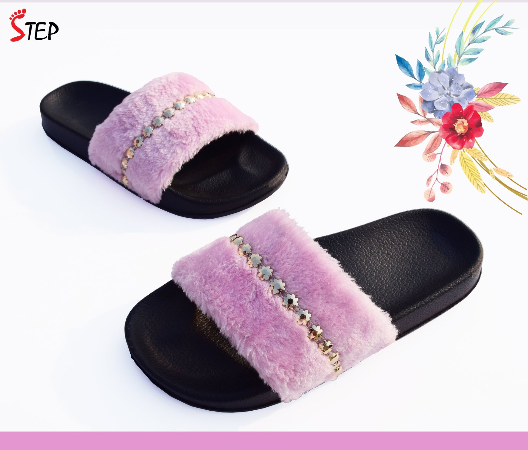 Exclusive Ladies Footwear (''FLUFFY'')- Product- LC 2081